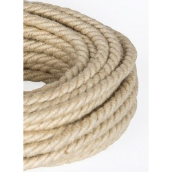 TWISTED ELECTRIC CABLE COVERED COLOUR FABRIC JUTA TR49 BIG