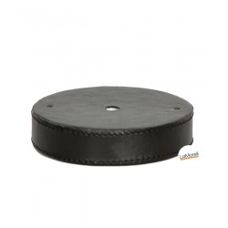 PVC CEILING ROSE LEATHER COVERED - BLACK