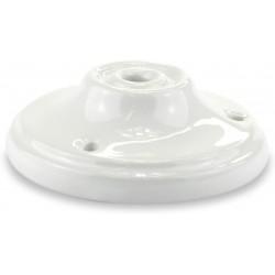 White Porcelain Rose + 3 Screws + 3 Anchors + 1 Tensioner Plate