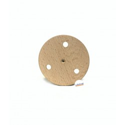 ROUND ASH WOOD CEILING ROSE PAINTABLE, 3 EXIT