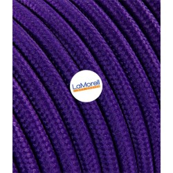 ROUND ELECTRIC CABLE COVERED COLOUR FABRIC VIOLET LM11