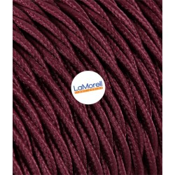 TWISTED ELECTRIC CABLE COVERED COLOUR FABRIC BORDEAUX TR63