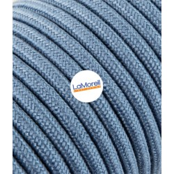 ROUND ELECTRIC CABLE COVERED COLOUR FABRIC AVIO LM58
