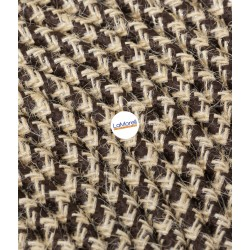 ROUND ELECTRIC CABLE COVERED COLOUR FABRIC COTTON BROWN/JUTA LM92/A